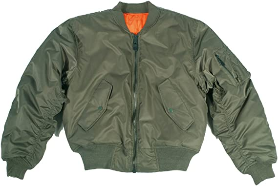 Mil-Tec MA1 Flight Jacket 1960/'s colour green JKT336