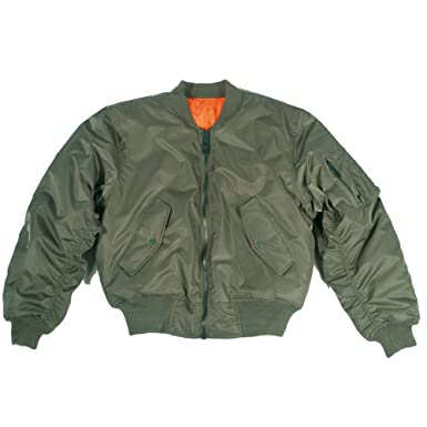 4e56bf9f9b2 Mil-Tec MA-1 Flight Jacket Olive at Amazon Men s Clothing store