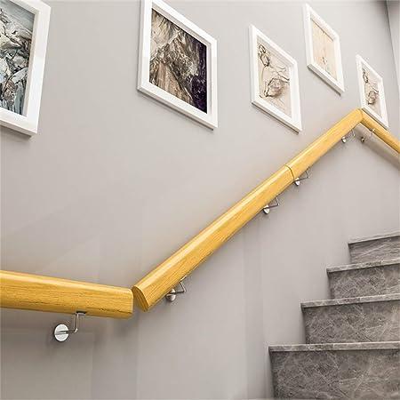 L.HPT - Pasamanos de 1 a 10 pies con Soportes de Acero Inoxidable, Juego Completo para Interiores y Exteriores, Soporte para barandilla para escaleras de Madera: Amazon.es: Hogar