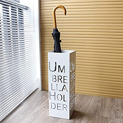 Do4U Metal Umbrella Stand Rack Free Standing Cutout Umbrella Design Entryway Umbrella Holder Storage Rack