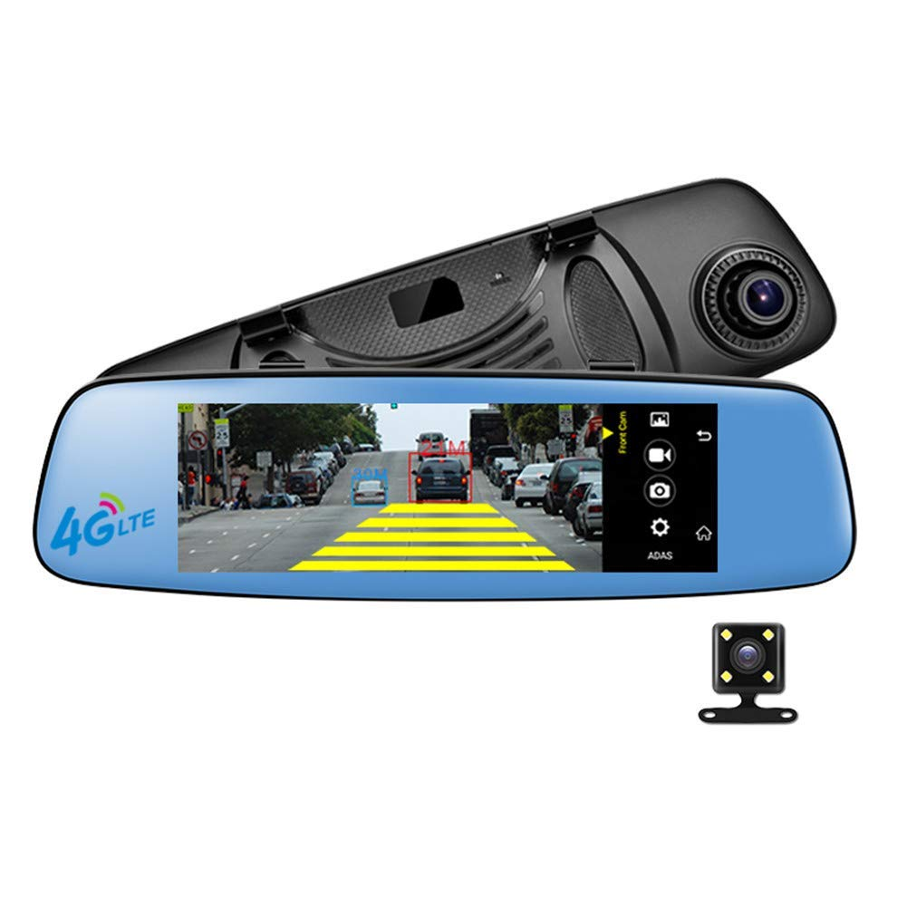 TOOSD 4G Coche Inteligente DVR retrovisor Espejo Dash CAM Car Driving Recorder 7,84