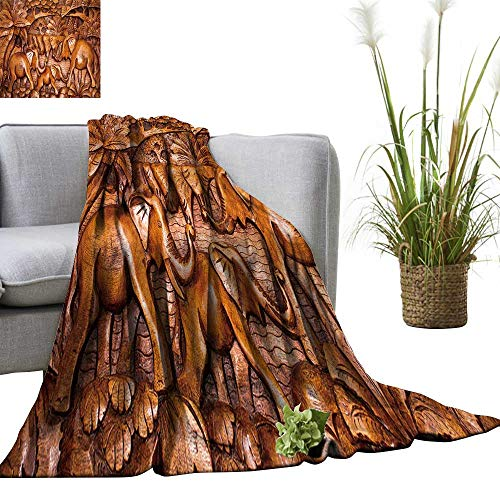 YOYI Warm Blanket The Wooden Decoration in The Style Bali Winter Lightweight Thermal Blankets for Couch Bed Sofa -