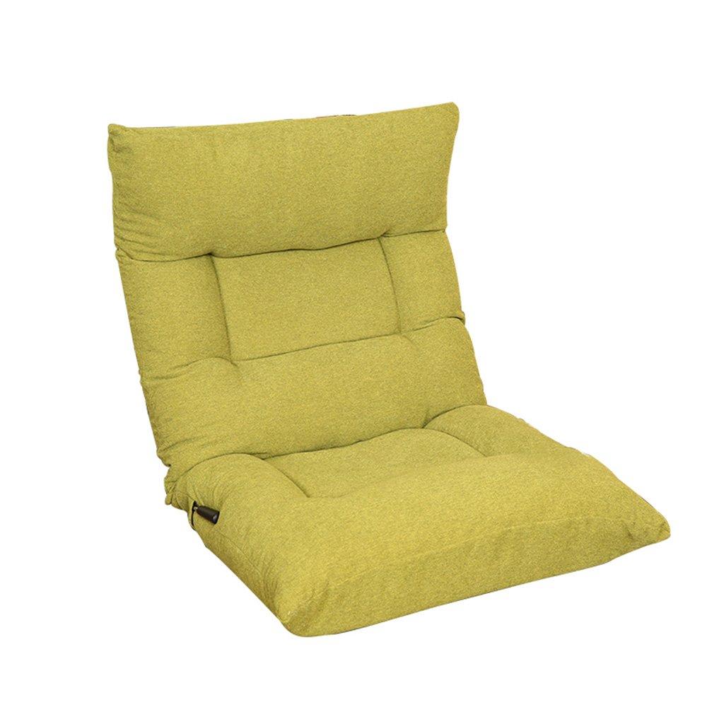 Grass Grün FEI Bequem Padded Floor Chair mit verstellbarer Rückenlehne, bequem, faltbar und vielseitig, für Meditation, Seminare, Lesen, Fernsehen oder Gaming, geeignet für Zuhause oder im Büro, elegantes Design