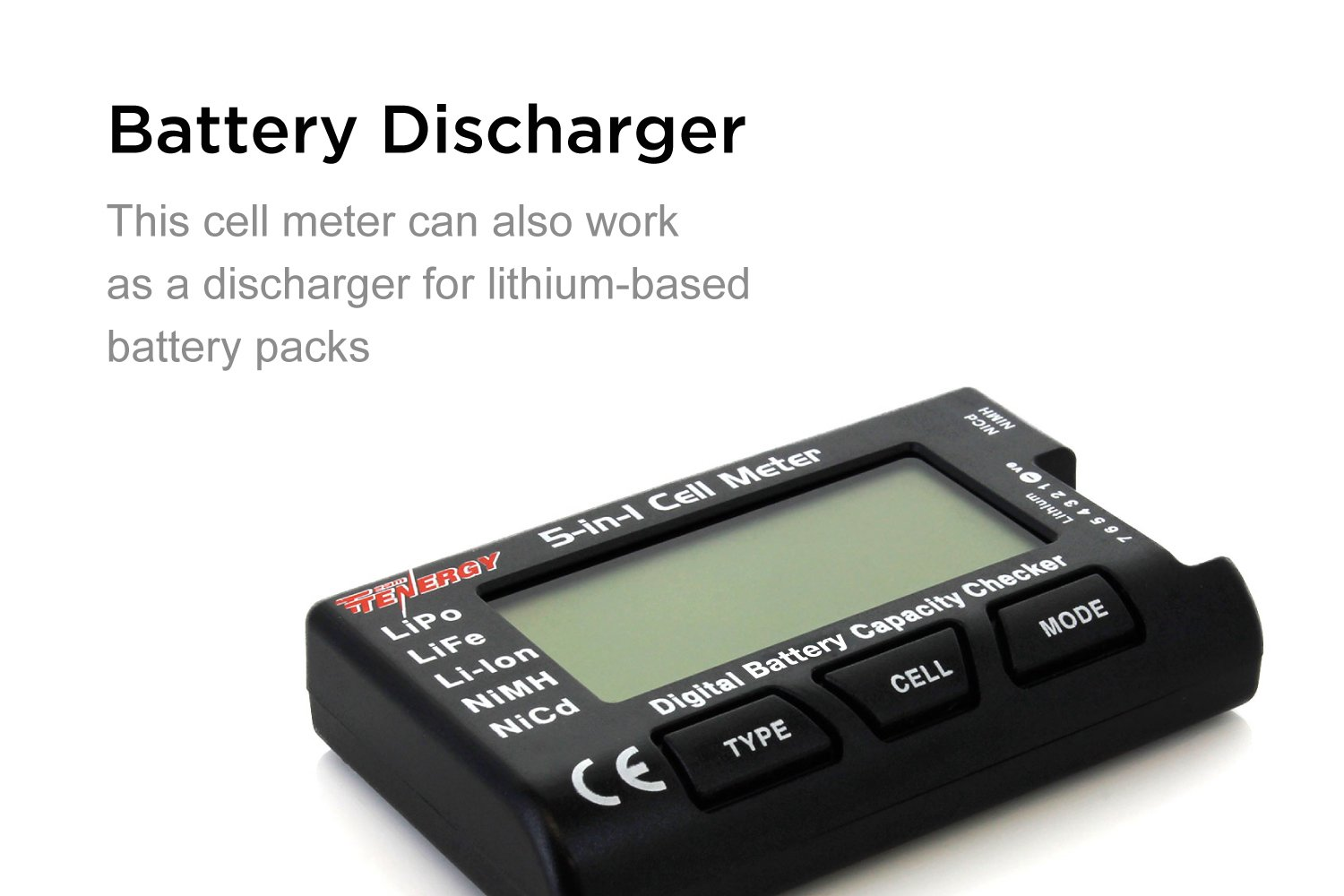 Tenergy 5 In 1 Intelligent Cell Meter Capacity Checker Battery Common Symbols Include A Switches Meters Power Balancer Discharger Internal Resistance Tester Esc Servo Ppm