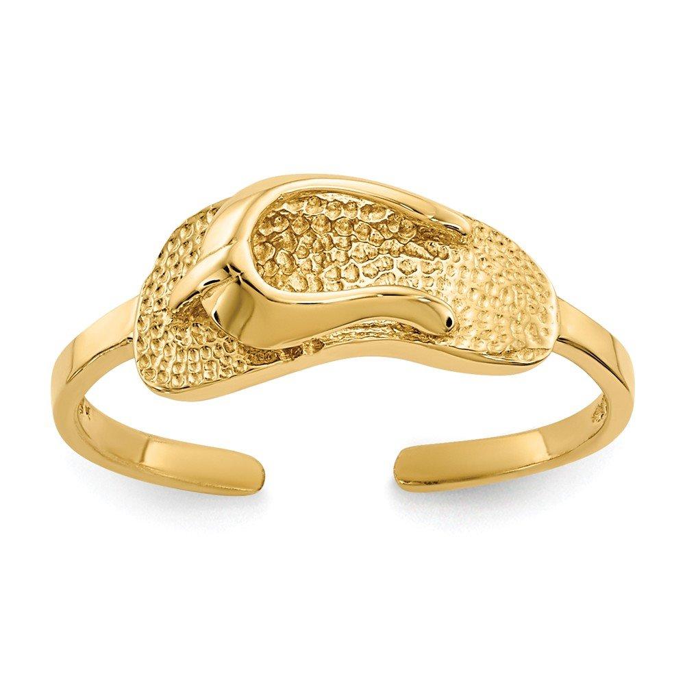 Sandal Toe Ring in 14 Karat Gold