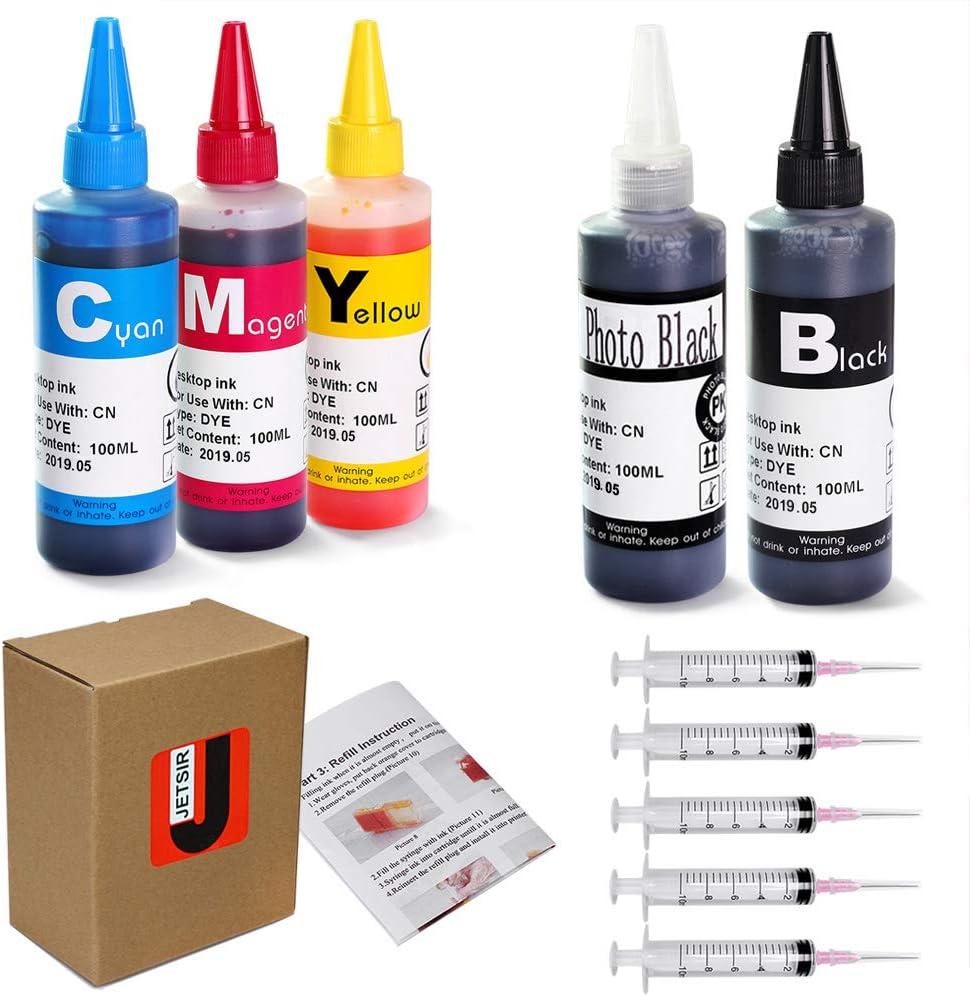 Kit de recarga de tinta con JetSir 5 colores para Canon