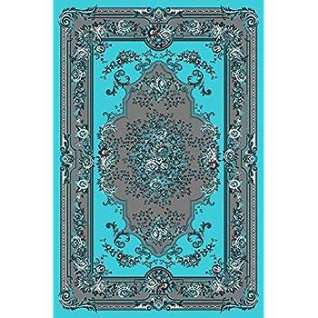 Amazon Com Turquoise Gray White Black 5x7 5 2x7 2 Black