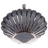 Fawziya Mini Seashell Purses For Women Clutch Handbags For Girls-Gray