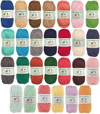 Col 209 100/% Fine Cotton 4 Skeins Pumpkin Spice Cotton Select Sport Weight Yarn