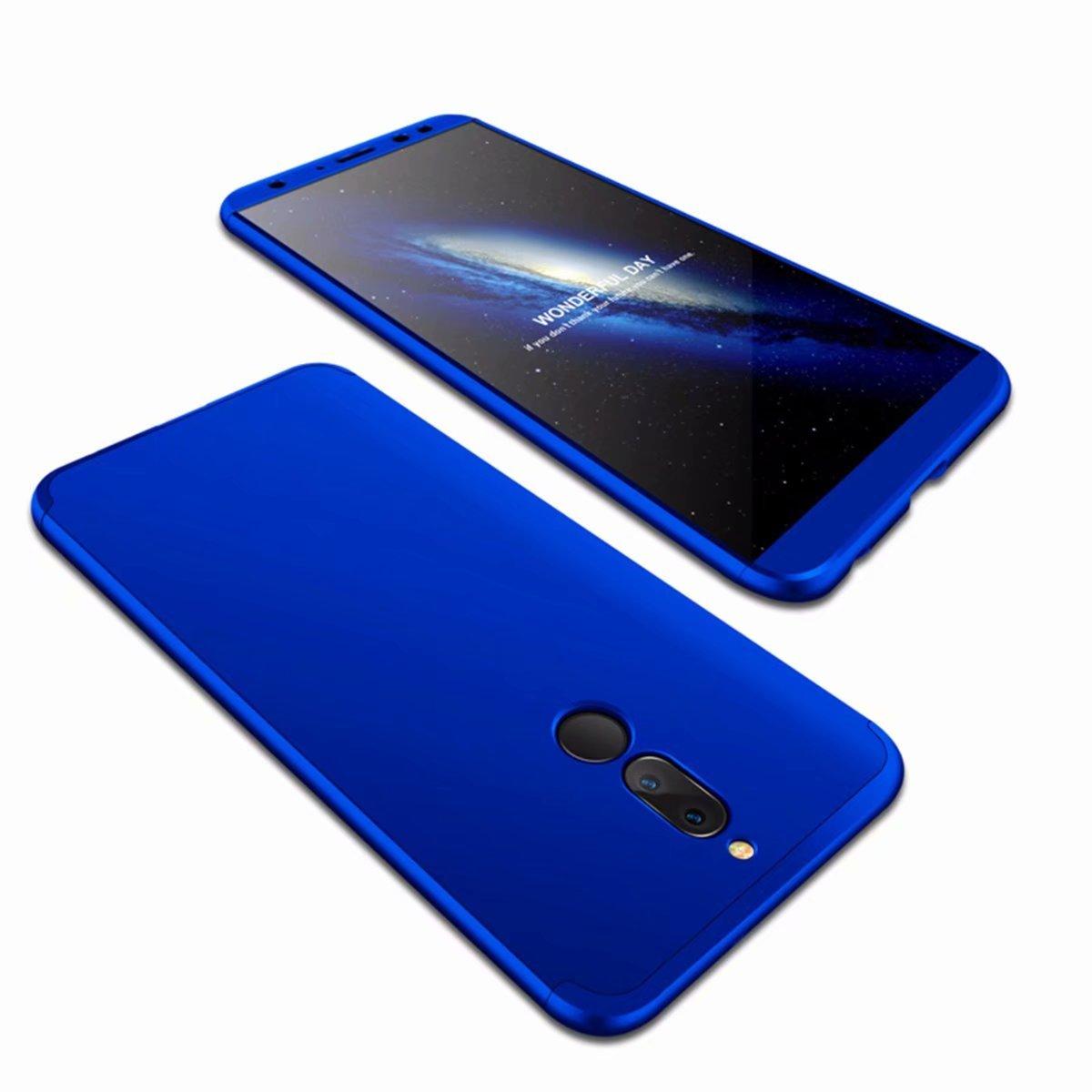 AILZH互換Huawei Mate 10 Liteケース360度保護カバーPCハードシェル耐衝撃性フルボディ保護アンチスクラッチバンパー360度マット保護(ブルー)   B077T4QMX7
