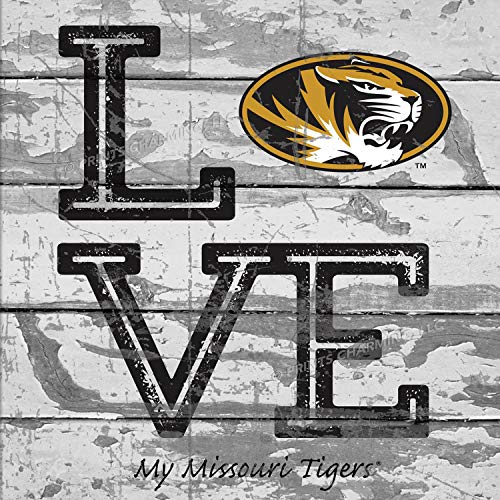 Prints Charming College Love My Team Logo Square Missouri Tigers Unframed Poster 13x13 Inches