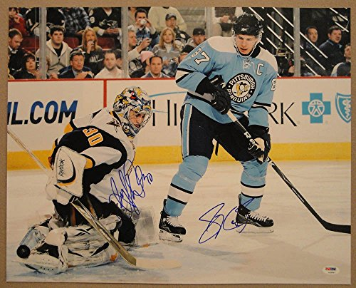Sidney Crosby & Ryan Miller Dual Autographed Signed 16x20 Picture PSA/DNA Autographed Signed - Certified Authentic ()