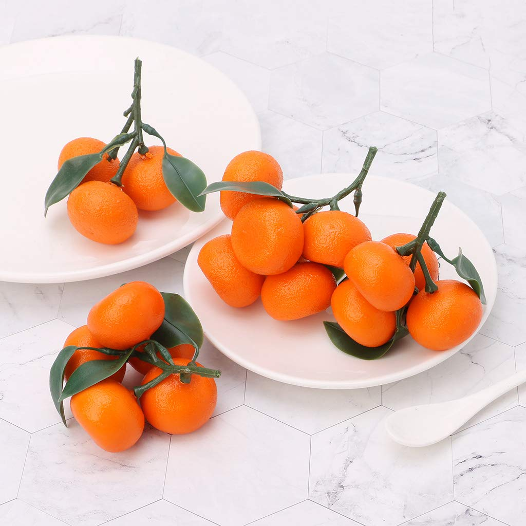 Angelliu Fruit Artificiel Fruits Artificiels Artificiels De Fruits De Mandarine Fruit Artificiel Deco pour Decor Home Party Decor