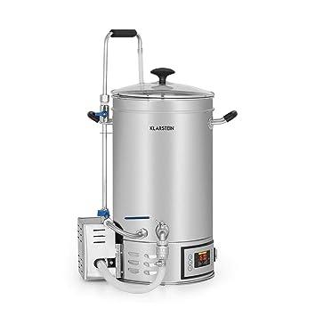 Klarstein Brauheld 15 Caldera de maceración • Juego de fermentación • Cerveza casera • 15 L