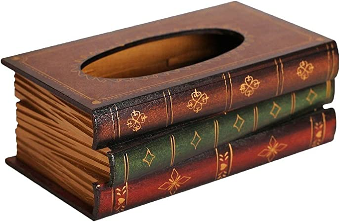 Caja de panuelos - SODIAL(R) Caja de panuelos de forma de libro de estilo retro: Amazon.es: Hogar