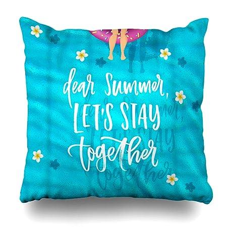GisRuRu funda de almohada con letras para el verano querido ...