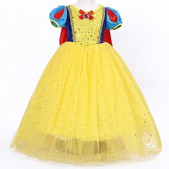 Disfraz Vestido Princesa Blancanieves Elsa Niña Tutu Ceremonia ...