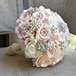Clear-Fayer-Luxury-Rhinestone-Covered-Wedding-Bridal-Flower-Crystal-Pearls-and-Jewels-Decorated-Rose-Bouquet-in-Champagne-Blush