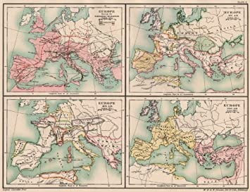 Dark Ages Europe Barbarian Migrations 451 476 500 Ad 5th
