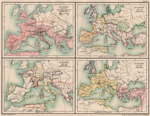 Amazon Com Dark Ages Europe Barbarian Migrations 451 476 500 Ad