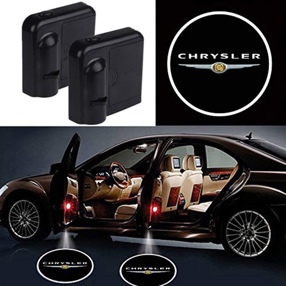 2 Pcs Wireless Car Door Led Welcome Laser Projector Logo Light Ghost Shadow Light Lamp Logos For Chrysler All models
