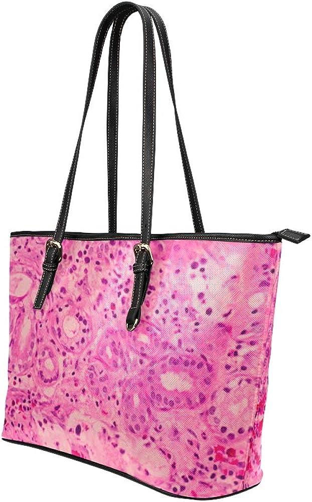 Tote Bag Creative Beautiful Pink Water Drop Leather Hand Totes Bag Causal Handbags Zipped Shoulder Organizer For Lady Girls Womens Womens Handbags