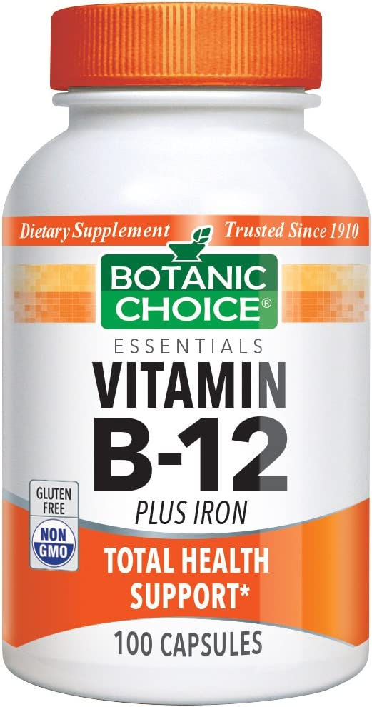 Amazon Com Botanic Choice Vitamin B 12 Plus Iron High Potency