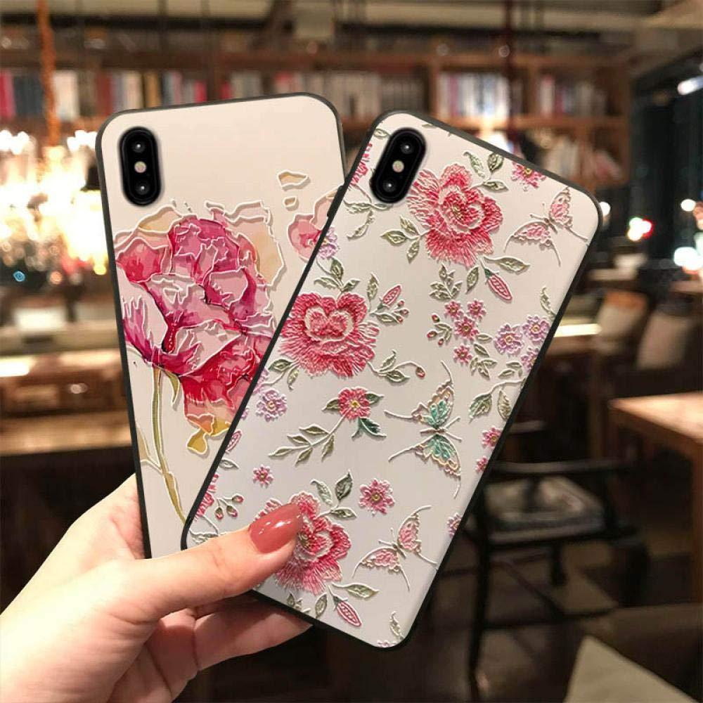 Amazon.com: Funda 3d encaje flamenco flor flor flor fresca ...