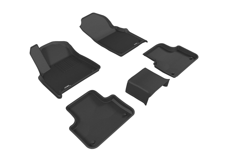 3D MAXpider Third Row Custom Fit All-Weather Floor Mat for Select Audi Q7 Models Kagu Rubber Black