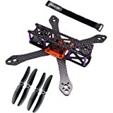 Readytosky® 220mm FPV Racing Drone Frame for Martian II Carbon Fiber Quadcopter Frame Kit 4mm Arms with 5030 Propellers…