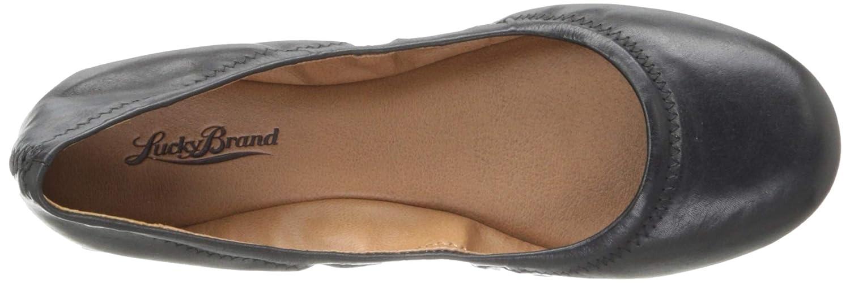 Lucky Woherren Emmie Ballet schwarz Flat schwarz Ballet Leather 5.5 M US e33764