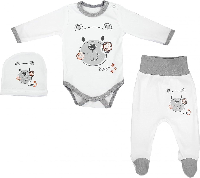 TupTam Baby Jungen Strampelhose mit Fu/ß 3er Pack