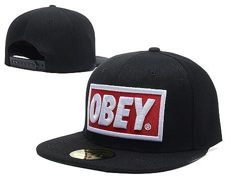 4e7f32612a8d OBEY snapback Hut   Hüte (schwarz mit weiß Logo)  Amazon.de  Bekleidung