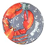 Tommy Bahama Lobster & Anchor Print Dinner Plates, Set of Four
