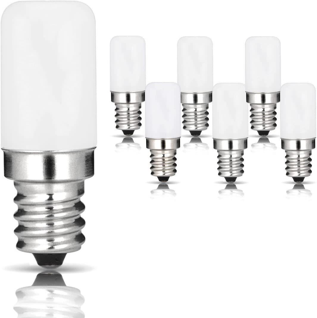 Dimmable E12 LED Candelabra Bulb,7W 70W Incandescent Bulb Equivalent Daylight White 6000k Ceiling Fan Bulb 2-Pack