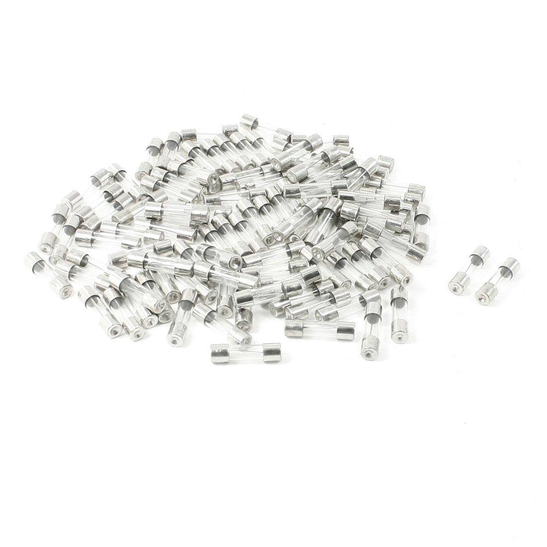 100 unidades a 250 voltios 20 amperios tubo tipo de fusi/ón r/ápida vidrio fusibles 5 x 20 mm Sourcingmap