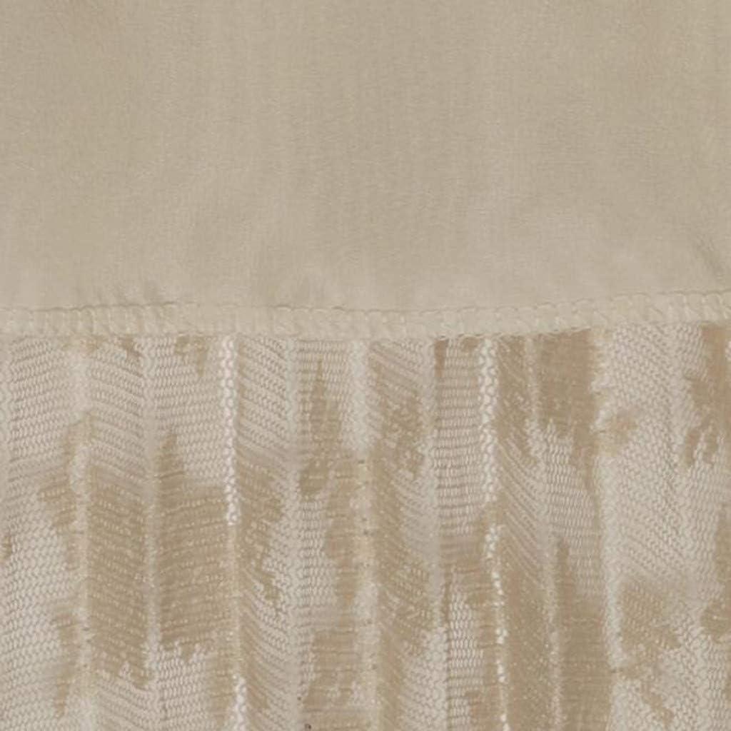 Women Teen Girls Floral Lace Skirt Elastic Waist Midi Length Tulle Skirt a-Line Knee Length Skirt Elegant Boho Skirt