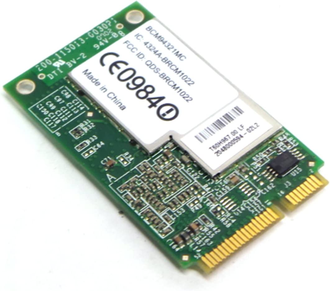 Dell Boadcom BCM94321MC802.11n/b/g Wireless Wifi WLAN Mini PCI-E Laptop Board Card for Selected Dell Models