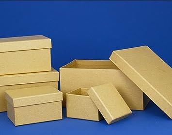 Papel maché Rectangular Alta cajas con tapas para decorar – elección de tamaños, Rectangular Box