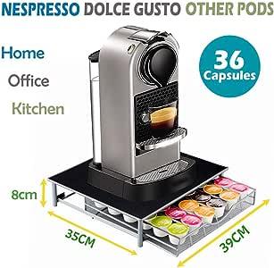 Nespresso Dolce Gusto - Soporte para cafetera (36 cápsulas, con ...