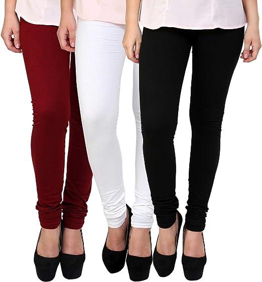uzee Women's Cotton Leggings OO19_Orange_Free Size  Ethnic Wear