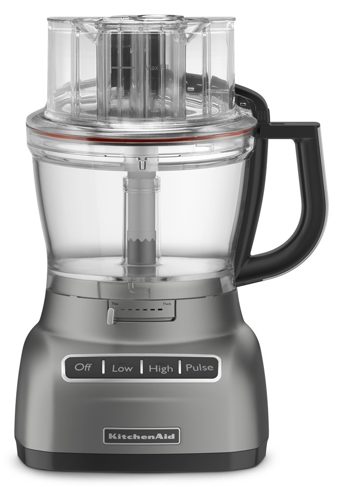 KitchenAid Food Processor with ExactSlice System RKFP1333CU, 13-Cup, Contour Silver, (Certified Refurbished)