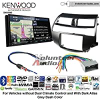 Volunteer Audio Kenwood Excelon DNX994S Double Din Radio Install Kit with GPS Navigation Apple CarPlay Android Auto Fits 2008-2012 Honda Accord (Dark Atlas Grey)