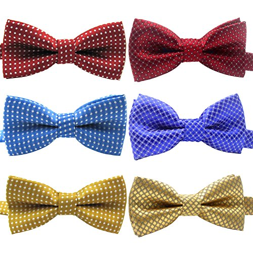 [YOY Handcrafted Adorable Pet Bow Ties - 6-pack Adjustable Neck Tie 11.4
