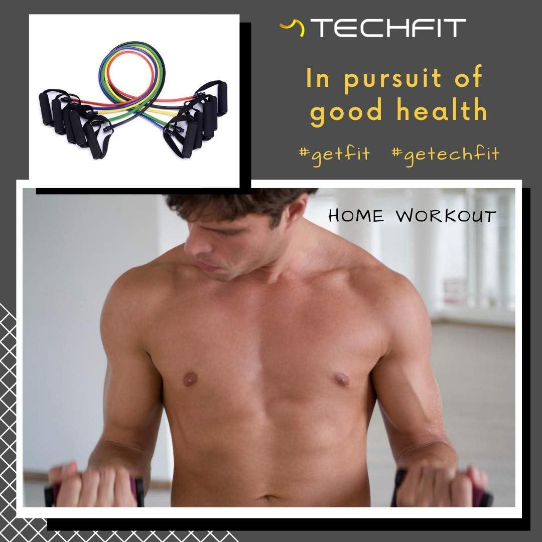 Bandas de Resistencia Techfit – Equipo de Entrenamiento con Gomas Elasticas Fitness – Bandas de Ejercicio Premium para Entrenar Todos los Músculos