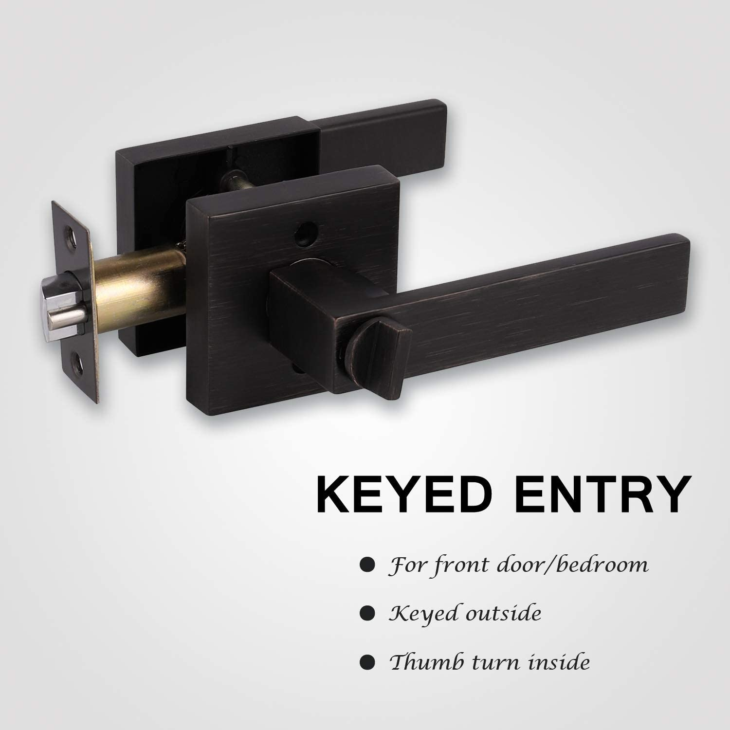 Oil Rubbed Bronze Finish KNOBWELL Heavy Duty Dummy Lever Set for Interior Door Single Handle Right//Left Handing 0.93 lb Heavy Duty Dummy Handle Leversets for Interior Doors