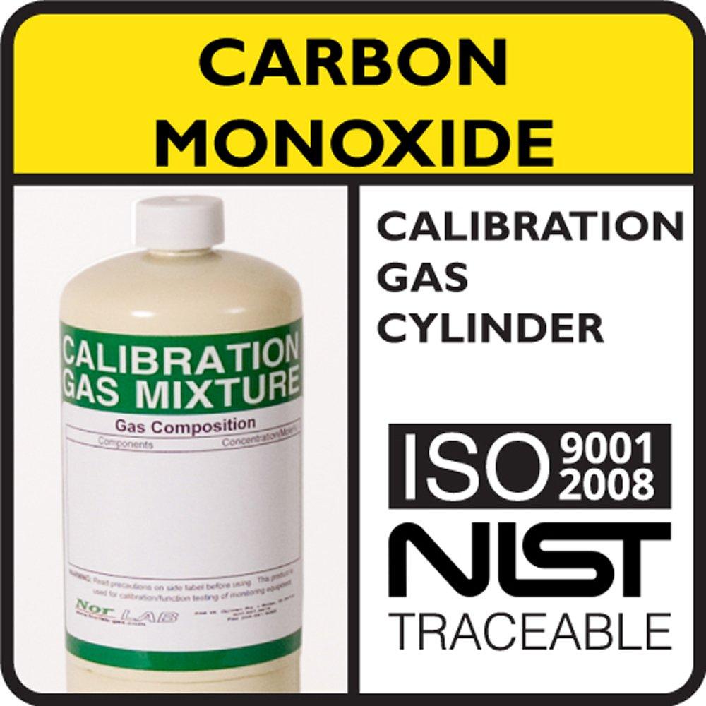 100 PPM Carbon Monoxide Calibration Gas, Balance Air, 34 Liter Steel Cylinder. NorLAB