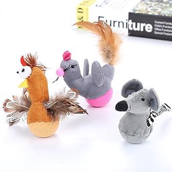 10-pack juguetes de ratón para gatos, varita interactiva juguete de ...