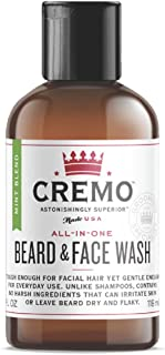 product image for Cremo Beard and Face Wash, Mint Blend, Cleans And Conditions Facial Hair Without Irritating Skin Underneath, 4 Ounce
