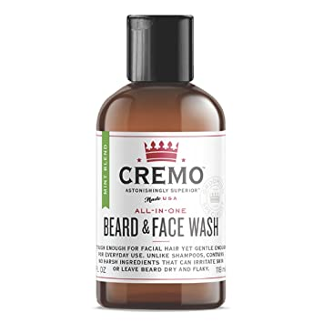 Cremo Beard & Face Wash, Mint, 4 oz Home Health Hyaluronic Acid Moisturizing Cream With Restorative Hydration Complex - 4 Oz, 6 Pack